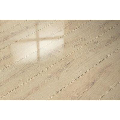 "7"" x 51"" x 9mm Oak Laminate Flooring in Beige"