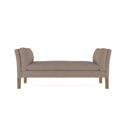 Leedom Linen Upholstered Bench Upholstery: Stone