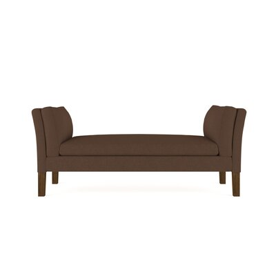 Leedom Linen Upholstered Bench Upholstery: Brown