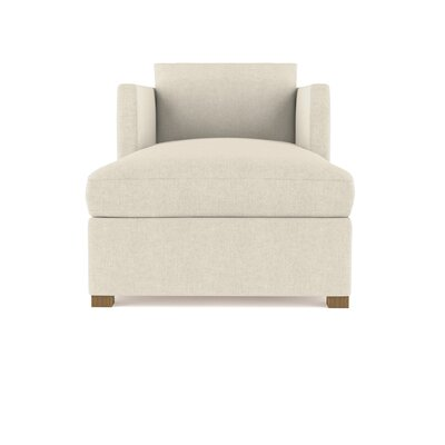 Leedom Linen Chaise Lounge Upholstery: Silver