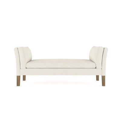 Leedom Linen Upholstered Bench Upholstery: Dark White