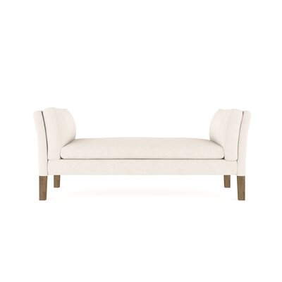 Leeman Vintage Leather Bench Upholstery: Dark White