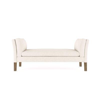 Leeman Vintage Leather Bench Upholstery: Dark White
