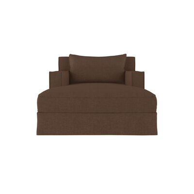 Letendre Linen Chaise Lounge Upholstery: Brown