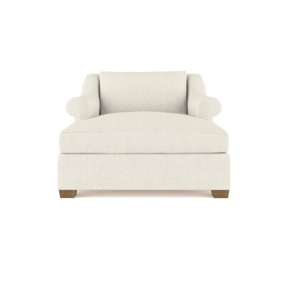 Auberge Linen Chaise Lounge Upholstery: Dark White