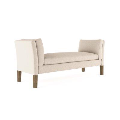Leedom Velvet Upholstered Bench Upholstery: Silver