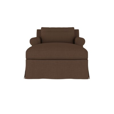Autberry Linen Chaise Lounge Upholstery: Brown