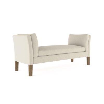 Leedom Linen Upholstered Bench Upholstery: Silver