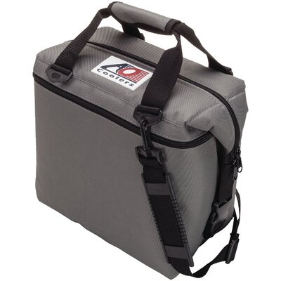 12 Can Canvas Cooler Color: Charcoal