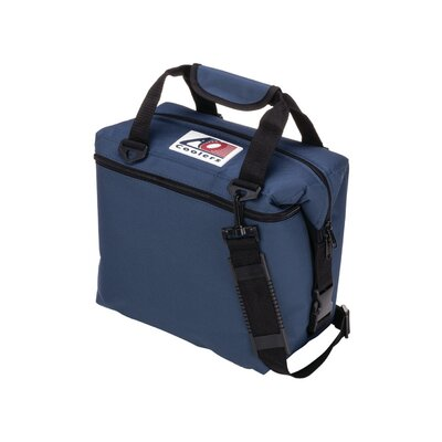 12 Can Canvas Cooler Color: Navy Blue