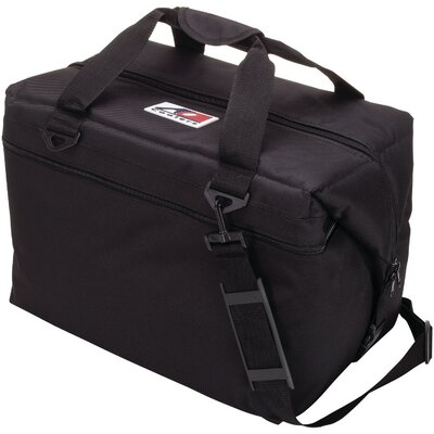 24 Can Canvas Cooler Color: Black