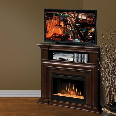 """Montgomery 46"""" TV Stand with Fireplace Firebox: Multi-Fire XD Acrylic Ice"""