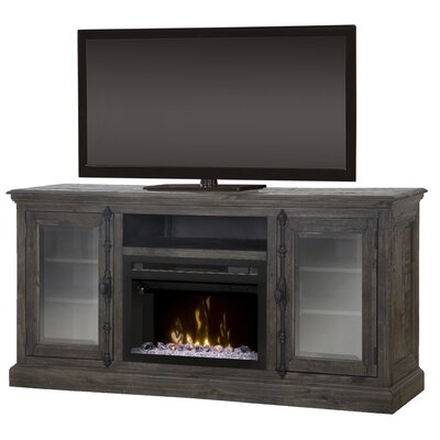 """Open Storage Space 68"""" TV Stand with Fireplace Firebox Type: Realogs"""