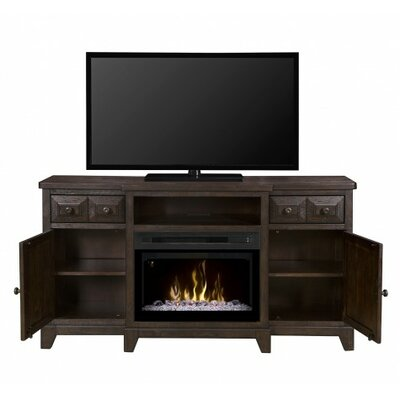 "Open Storage 66"" TV Stand with Fireplace Firebox Type: Realogs (XHD)"