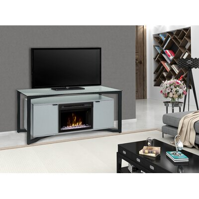 """Christian 70"""" TV Stand with Fireplace Firebox Type: Acrylic Ice"""