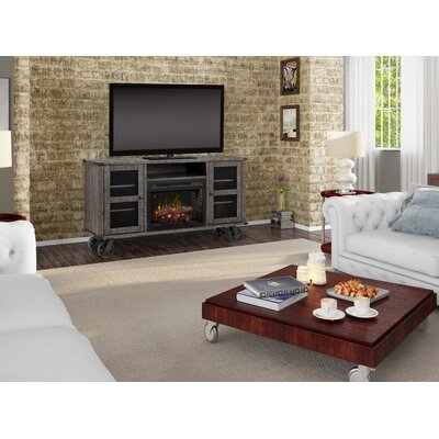 """Open Storage Space 66.125"""" TV Stand with Fireplace Firebox Type: Realogs"""