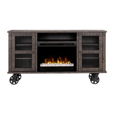 """Open Storage Space 66.125"""" TV Stand with Fireplace Firebox Type: Acrylic Ice (XHD)"""