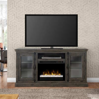 """Open Storage Space 68"""" TV Stand with Fireplace Firebox Type: Acrylic Ice (XHD)"""