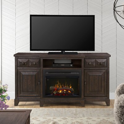 """Open Storage 66"""" TV Stand with Fireplace Firebox Type: Realogs"""