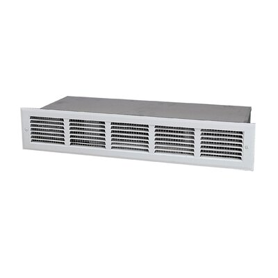 1,536 BTU Wall Mounted Electric Fan Baseboard Heater Finish: White