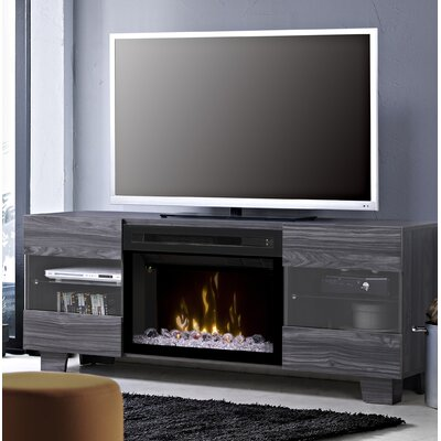 Max TV Stand with Fireplace Insert Style: Acrylic Ice