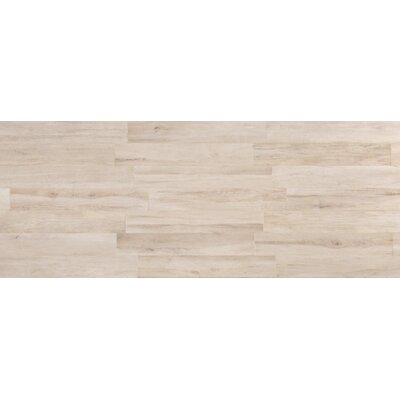 """Travel 8"""" x 48"""" Porcelain Wood Look Tile in North White"""