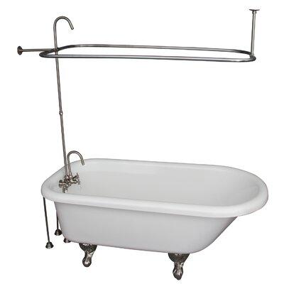 "67"" x 29.5"" Soaking Bathtub Kit Color: Brushed Nickel"