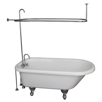 """67"""" x 29.5"""" Soaking Bathtub Kit Color: Chrome"""