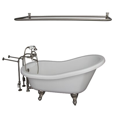 "60"" x 30"" Soaking Bathtub Kit Color: Brushed Nickel"