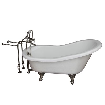 "60"" x 24.5"" Soaking Bathtub Kit Color: Brushed Nickel"