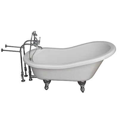 "60"" x 24.5"" Soaking Bathtub Kit Color: Chrome"