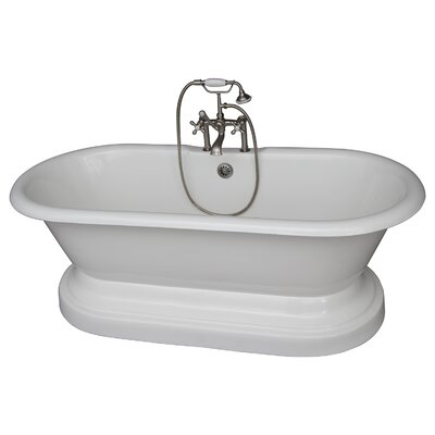 "67"" x 23.25"" Soaking Bathtub Kit Color: Brushed Nickel"