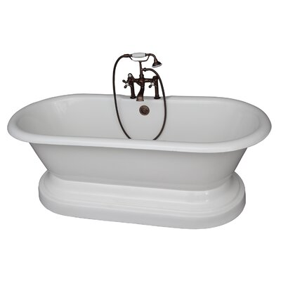 "67"" x 23.25"" Soaking Bathtub Kit Color: Oil Rubbed Bronze"