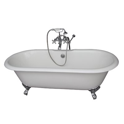 "67"" x 23.25"" Soaking Bathtub Kit Color: Chrome"