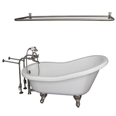 "60"" x 30"" Soaking Bathtub Kit Color: Brushed Nickel"