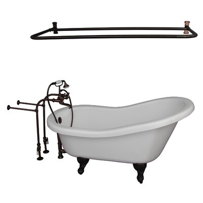 "60"" x 30"" Soaking Bathtub Kit Color: Oil Rubbed Bronze"