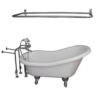 """60"""" x 30"""" Soaking Bathtub Kit Color: Chrome"""