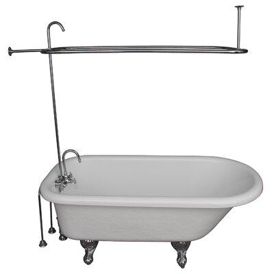 """67"""" x 29.5 Soaking Bathtub Kit Color: Chrome"""