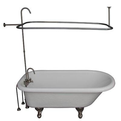"67"" x 29.5 Soaking Bathtub Kit Color: Brushed Nickel"