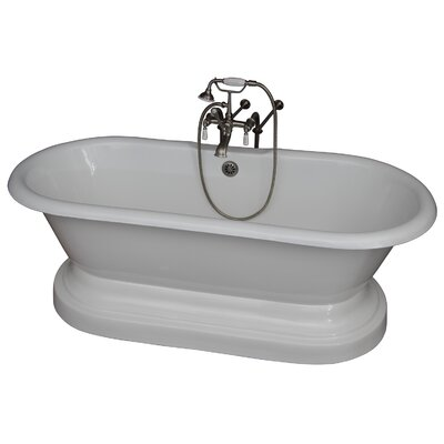 "67"" x 31"" Soaking Bathtub Kit Color: Brushed Nickel"