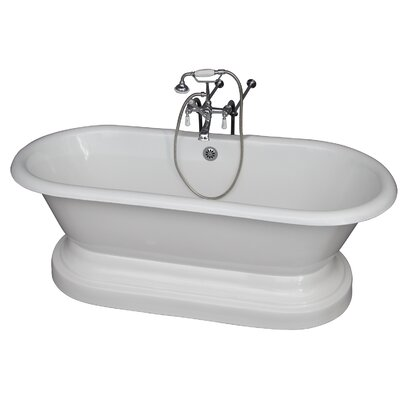 "67"" x 31"" Soaking Bathtub Kit Color: Chrome"