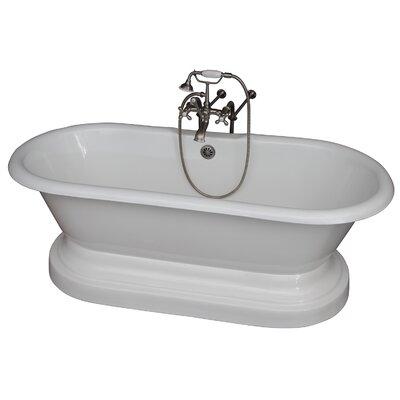 "67.75"" x 31"" Soaking Bathtub Kit Color: Brushed Nickel"