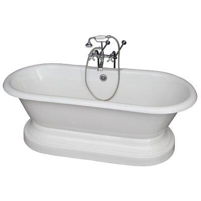 """67.75"""" x 31"""" Soaking Bathtub Kit Color: Chrome"""