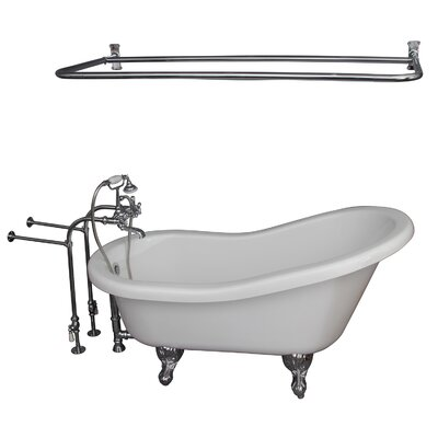 "67"" x 30"" Soaking Bathtub Kit Color: Chrome"
