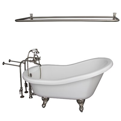 "67"" x 30"" Soaking Bathtub Kit Color: Brushed Nickel"