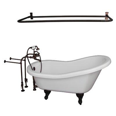 "67"" x 30"" Soaking Bathtub Kit Color: Oil Rubbed Bronze"