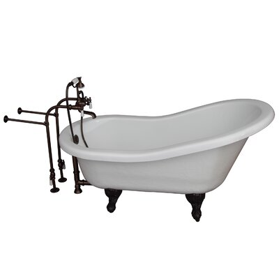 "60"" x 24.5"" Soaking Bathtub Kit Color: Oil Rubbed Bronze"