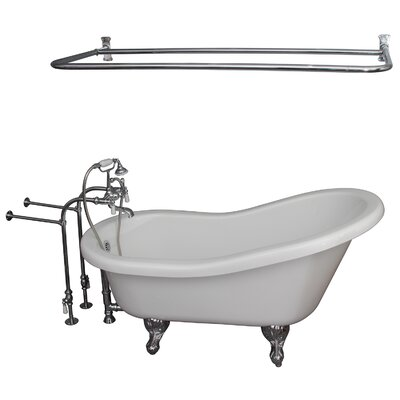 "60"" x 30"" Soaking Bathtub Kit Color: Chrome"