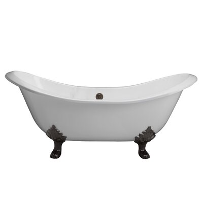 "Marshall 71"" x 30"" Soaking Bathtub Color: Black"