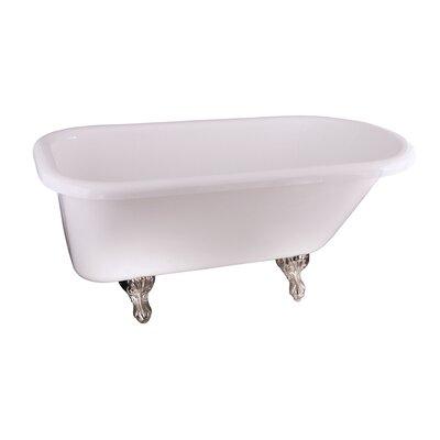 "Anthea 60"" x 30"" Soaking Bathtub Color: Black"